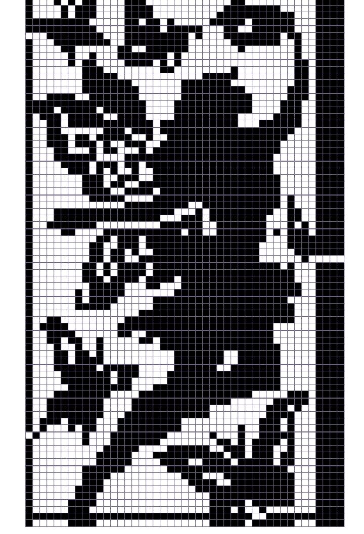 Японский кроссворд девушка - 45x79